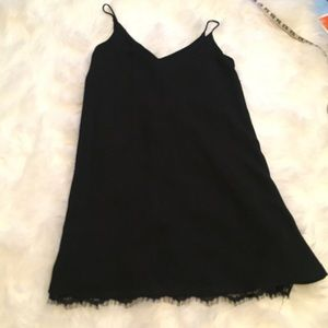Black Lulu's tunic / Dress with eyelash lace